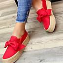 olcso Női alacsony cipők-Női Lapos Tipegők Kerek orrú Vászon Ősz Fekete / Fehér / Piros