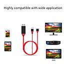 ราคาถูก สาย HDMI-สำหรับแอปเปิ้ลสำหรับ android type c ทั่วไปสามเปิด hdmi ทีวีเสียงเปิดสายไฟ