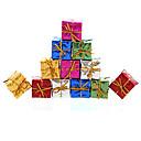 billiga Julpynt-12st Jul dekoration gåvor roll ofing julgransdekorationer julklapp färg slumpmässigt