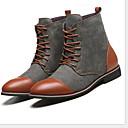 Χαμηλού Κόστους Αντρικές Μπότες-Ανδρικά Παπούτσια άνεσης Πανί Φθινόπωρο & Χειμώνας Μπότες Μποτίνια Μαύρο / Μπλε / Γκρίζο