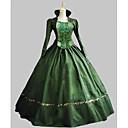 Χαμηλού Κόστους Στολές της παλιάς εποχής-Classic Lolita Rococo Victorian 18ος αιώνας Φορέματα Κοστούμι πάρτι Χορός μεταμφιεσμένων Γυναικεία Κοριτσίστικα Σατέν Στολές Πράσινο Πεπαλαιωμένο Cosplay Πάρτι Χοροεσπερίδα Αμάνικο / Μεγάλα Μεγέθη