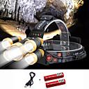 Χαμηλού Κόστους Αξεσουάρ μαλλιών-Φακοί Κεφαλιού Λάμπα Καπέλου Μπροστινό φως ποδηλάτου 2000 lm LED 5 Εκτοξευτές 4.0 τρόπος φωτισμού με μπαταρίες και καλώδιο USB Φορητά Αντιανεμικό Απίθανο Εύκολη μεταφορά Ανθεκτικό στη φθορά