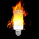 baratos Lâmpadas LED Inteligentes-ywxlight® e12 e14 e27 3528 smd 3 modos led efeito de chama lâmpadas de fogo piscando ac 85 - 265 v