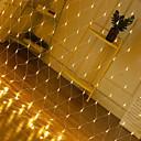 Χαμηλού Κόστους LED Φωτολωρίδες-1pcs 1,5 * 1,5m οδήγησε καθαρό φώτα 220v 96δενός γάμος διακόσμηση Χριστούγεννα νεράιδα κορδόνι φως υπαίθρια γιορτή διακοπών πολυεθνικό κήπο λαμπτήρα
