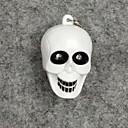 ราคาถูก ของเล่นแสงไฟ-โครงกระดูกไฟ LED สีขาวที่มีผลกระทบเสียงพวงกุญแจ