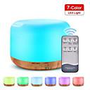 olcso párásítók-távirányító, 300ml aromás diffúzor ultrahangos, változó színű led lámpákkal, hideg permetező köd illóolaj párásító