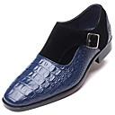 Χαμηλού Κόστους Ανδρικά Φορετά & Μοκασίνια-Ανδρικά Τα επίσημα παπούτσια Δερμάτινο Ανοιξη καλοκαίρι / Φθινόπωρο & Χειμώνας Καθημερινό / Βρετανικό Μοκασίνια & Ευκολόφορετα Μη ολίσθηση Μαύρο / Κρασί / Μπλε