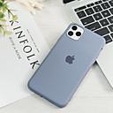 olcso iPhone tokok-Case Kompatibilitás Apple iPhone 11 / iPhone 11 Pro / iPhone 11 Pro Max Ultra-vékeny / Minta Fekete tok Egyszínű Silica Gel
