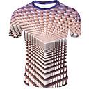 Χαμηλού Κόστους Σποτάκια LED-Ανδρικά T-shirt 3D Χακί