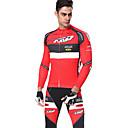 ราคาถูก ชุดเซทปั่นจักรยาน-Mountainpeak สำหรับผู้ชาย แขนยาว Cycling Jersey with Tights สีดำ / สีแดง แดง+ดำ สีดำ / สีขาว จักรยาน Warm ฤดูหนาว กีฬา สีทึบ ขี่จักรยานปีนเขา Road Cycling เสื้อผ้าถัก / ยืด