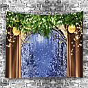 olcso Falfestmények-Virágos téma / Klasszikus téma Fali dísz 100% Poliészter Kortárs Wall Art, Fali gobelinek Dekoráció