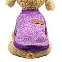 ราคาถูก วง Smartwatch-แมว สุนัข เสื้อกันหนาว ฤดูหนาว Dog Clothes สีม่วง ส้ม ฟ้า เครื่องแต่งกาย Bichon Frise Schnauzer ปักกิ่ง ฝ้าย สีพื้น ง่าย / ประจำวัน รักษาให้อุ่น แฟชั่น S M L XL XXL