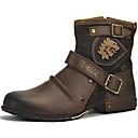 Χαμηλού Κόστους Αντρικές Μπότες-Ανδρικά Μπότες Μάχης Νάπα Leather Χειμώνας / Φθινόπωρο & Χειμώνας Βίντατζ / Βρετανικό Μπότες Διατηρείτε Ζεστό Μπότες στη Μέση της Γάμπας Μαύρο / Καφέ