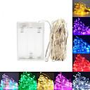 ราคาถูก สายไฟ LED-ไฟ led เชือก 5 เมตร 50 leds เงินลวดพวงมาลัยบ้านคริสมาสต์งานแต่งงานตกแต่งขับเคลื่อนโดยแบตเตอรี่ aa นางฟ้าแสง
