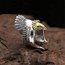 ราคาถูก แหวนผู้ชาย-สำหรับผู้ชาย เปิดวงแหวน แหวนปรับได้ 1pc สีทอง สีเงิน ทองแดง ชุบเงิน Geometric Shape วินเทจ แฟชั่น ทุกวัน Street เครื่องประดับ 3D นกอินทรีย์ ล้ำค่า เท่ห์