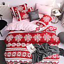 ราคาถูก ผ้าปูที่นอนลายการ์ตูน-แต่งงานกับคริสมาสต์ชุดเครื่องนอนซานตาคลอสของขวัญพิมพ์ 3d แผ่นปลอกหมอนและผ้านวมปกชุดสีแดงผ้าปูเตียงที่นอนหมอนมุ้ง