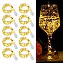 billiga Modeörhängen-10st 2m 20leds led cr2032 batteridrivna led strängljus för xmas garland party bröllop dekoration jul flasher fairy lampor
