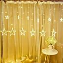 Χαμηλού Κόστους LED Φωτολωρίδες-1pc 12 πεντάκτινο αστέρι οδήγησε χορδές ελαφρύ μπλε ουρανό λάμπα κουρτίνα καταρράκτη φώτα πάγου φανάρι γιρλάντα διακοσμητικά 8 φλας λειτουργίες