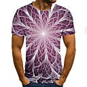 billige Wall Tapestries-T-skjorte Herre - 3D, Trykt mønster Lilla