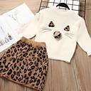 billige Sett med babyklær-Baby Jente Gatemote Leopard Langermet Normal Tøysett Rosa