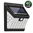 povoljno Vanjski fenjeri-nova solarna zidna svjetiljka 40 svjetlosna trostrana svjetleća dvorišna indukcijska svjetiljka