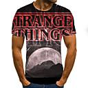 povoljno LED svjetla u traci-Majica s rukavima Muškarci Dnevno 3D Crn