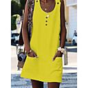 Χαμηλού Κόστους Ρούχα για χοροεσπερίδα-Γυναικεία Παραλία Σε γραμμή Α Φόρεμα Μίνι