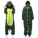 ราคาถูก ชุดนอน Kigurumi-ผู้ใหญ่ Kigurumi Pajama Dinosaur Onesie Pajama Polar Fleece สีเขียว คอสเพลย์ สำหรับ ผู้ชายและผู้หญิง สัตว์ชุดนอน การ์ตูน Festival / Holiday เครื่องแต่งกาย