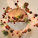 baratos Luminárias de Mesa-1 pcs novas luzes de guirlanda de natal led luzes da corda 2 m 20leds frutas vermelhas pinha cone agulha de pinho pompom lâmpada xmas árvore feriados decoração de casa