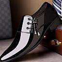 Χαμηλού Κόστους Αντρικά Oxford-Ανδρικά Δερμάτινα παπούτσια Καοτσούκ / Μικροΐνα Φθινόπωρο Oxfords Μαύρο / Καφέ