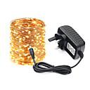 ราคาถูก สายไฟ LED-KWB 20ม. ไฟสาย 200 ไฟ LED แหล่งจ่ายไฟ 1 X 12V 3A ขาวนวล / White / หลากสี วันฮาโลวีน / คริสมาสต์ Creative / ปาร์ตี้ / ตกแต่ง 100-240 V 1set