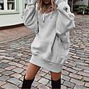 Χαμηλού Κόστους Γυναικείες Μπότες-Γυναικεία Καθημερινό Φούτερ με Κουκούλα - Μονόχρωμο