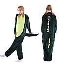 ราคาถูก จิ๊กซอว์3D-ผู้ใหญ่ Kigurumi Pajama Dinosaur Onesie Pajama Velvet Mink สีเขียว คอสเพลย์ สำหรับ ผู้ชายและผู้หญิง สัตว์ชุดนอน การ์ตูน Festival / Holiday เครื่องแต่งกาย
