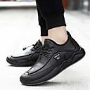 baratos Oxfords Masculinos-Homens Sapatos Confortáveis Couro Ecológico Inverno Oxfords Preto / Marron