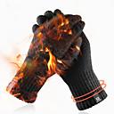 ราคาถูก ถุงมือรถจักรยานยนต์-ถุงมือถักฤดูหนาวชายและหญิงหน้าจอสัมผัสที่เรียบง่ายสีทึบถุงมือผ้าขนสัตว์อบอุ่นบวกกำมะหยี่