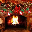 olcso Karácsonyi dekoráció-karácsonyi dekoráció medálok játék kívül karácsonyfa függő dísz Mikulás hóember medve kesztyű lakberendezés gyerekeknek ajándék-4db