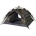 ราคาถูก เต้นท์และเต้นท์ผ้าใบกันแดด-4 คน เต็นท์ Automatic กลางแจ้ง กันน้ำฝน Ultraviolet Resistant ดับเบิล เต็นท์แคมปิ้ง สำหรับ แคมป์ปิ้ง การเดินทาง 215*215*135 cm