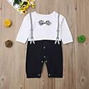 billige BabyGutterdrakter-Baby Gutt Aktiv / Grunnleggende Trykt mønster Trykt mønster Langermet Endelt Blå