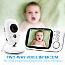 billige Baby Monitorer-digital 3mp cm trådløs 6mm linse nattsyn babymonitor toveis intercom ip kamera temperaturvisning vuggevise strømsparingsmodus hjemmesikkerhetskamera