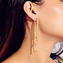 ราคาถูก ตุ้มหู-สำหรับผู้หญิง ต่างหู พู่ แนวตั้ง ศิลปะ Rock ที่ทันสมัย สไตล์น่ารัก สง่างาม เลียนแบบเพชร ต่างหู เครื่องประดับ สีทอง สำหรับ ปาร์ตี้ วันครบรอบ ทุกวัน ฮอลิเดย์ เทศกาล 1 คู่