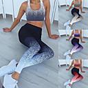 Χαμηλού Κόστους Γυμναστική, τρέξιμο και ρούχα γιόγκα-Γυναικεία Ψηλή Μέση Κοστούμι γιόγκα 2 τεμάχια Gradient Μαύρο Βυσσινί Πράσινο Μπλε Ροζ Τρέξιμο Fitness Γυμναστήριο προπόνηση Κολάν Σουτιέν Top Αθλητισμός Ρούχα Γυμναστικής / Αντίστροφη καρότσα