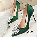olcso Női magassarkú cipők-Női Magassarkúak Tűsarok Erősített lábujj PU Ősz & tél Fekete / Arany / Ezüst