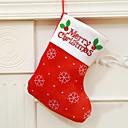billiga Högtidspynt-Julleksaker Presentpåsar Tomtekostymer Elk Snögubbe Textil Vuxna Leksaker Present 3 pcs