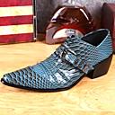 povoljno Muške oksfordice-Muškarci Cipele za noviteti Mekana koža Proljeće ljeto / Jesen zima Vintage / Uglađeni Oksfordice Non-klizanje Plava / Zabava i večer
