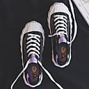 baratos Sapatos Esportivos Femininos-Mulheres Tênis Sem Salto Ponta Redonda Lona Verão Preto / Branco / Roxo