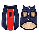 ราคาถูก เสื้อผ้าสำหรับสุนัข-สุนัข แมว เสื้อกั๊ก ฤดูหนาว Dog Clothes snowproof สีดำ แดง สีชมพู เครื่องแต่งกาย Husky สุนัข Labrador Alaskan Malamute เส้นใยสังเคราะห์ ผ้าใบ วัสดุผสม Stylish XS S M L XL XXL