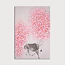 ราคาถูก ภาพวาดสัตว์-ภาพวาดสีน้ำมันแขวนทาสี มือวาด - สัตว์ต่างๆ ลวดลายดอกไม้ / เกี่ยวกับพฤษศาสตร์ ที่ทันสมัย รวมถึงด้านในกรอบ
