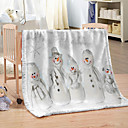 baratos Cobertores e Mantas-Decoração de natal flanela cobertor de lã 100% poliéster cama macia hotel jogar cobertores para o inverno