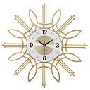 ราคาถูก นาฬิกาติดผนัง DIY-นาฬิกาแขวนตกแต่งบ้านแฟชั่นสร้างสรรค์แฟชั่นนาฬิกาและนาฬิกา, นาฬิกาแขวนดอกไม้นาฬิกาอิเล็กทรอนิกส์ใบ้ขนาดของ 60 เซนติเมตร 60 เซนติเมตรนอร์ดิกทองดัดนาฬิกาแขวนเหล็ก