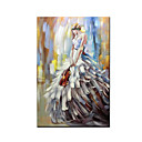 Χαμηλού Κόστους Ελαιογραφίες-Hang-ζωγραφισμένα ελαιογραφία Ζωγραφισμένα στο χέρι - Αφηρημένο Άνθρωποι Μοντέρνα Περιλαμβάνει εσωτερικό πλαίσιο